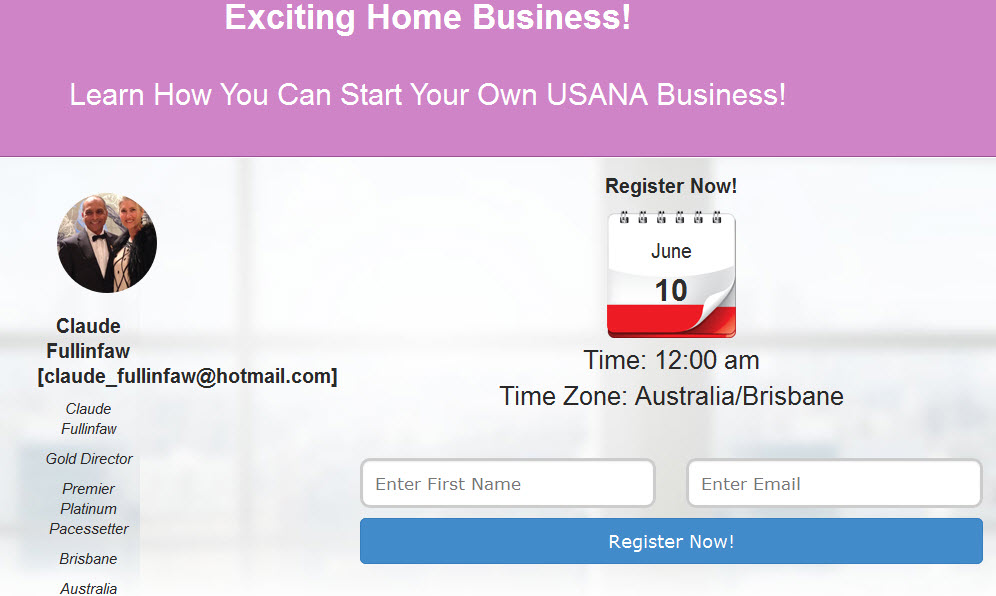 Home Based Business Webinar – Select A Time That Suits You